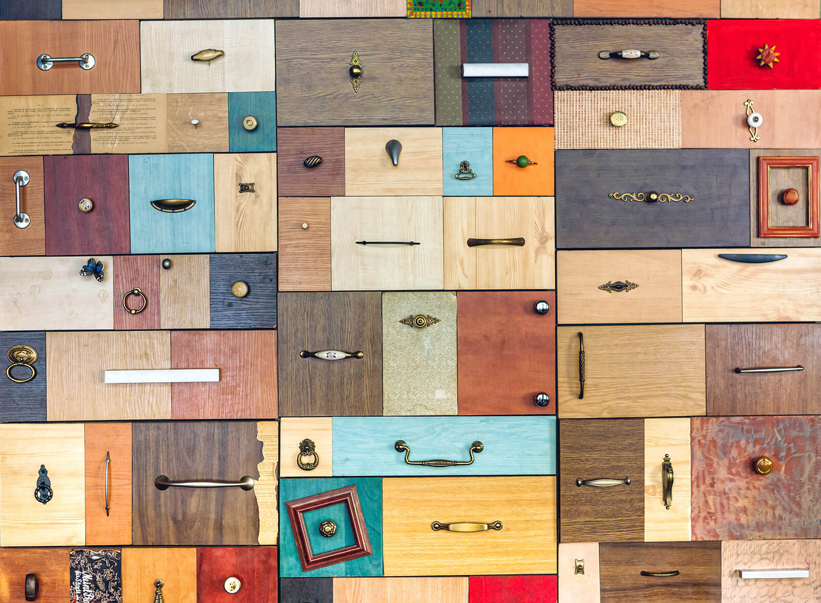 colourful chest of drawers background